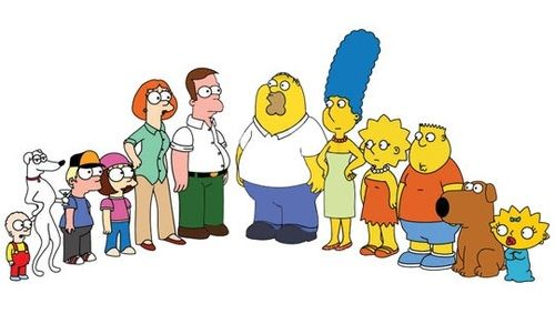 Mean while in a parallel universe : the Simpson meet family Guy