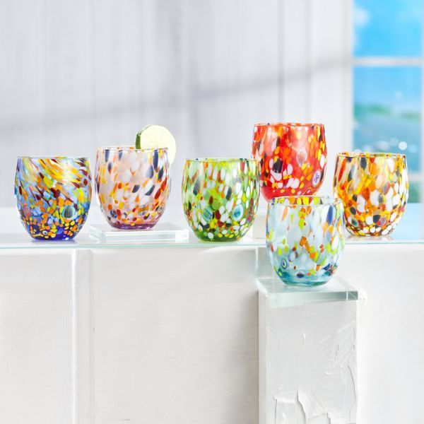 Handmade Imported Glass From Italy Murano Glass Highball Glasses