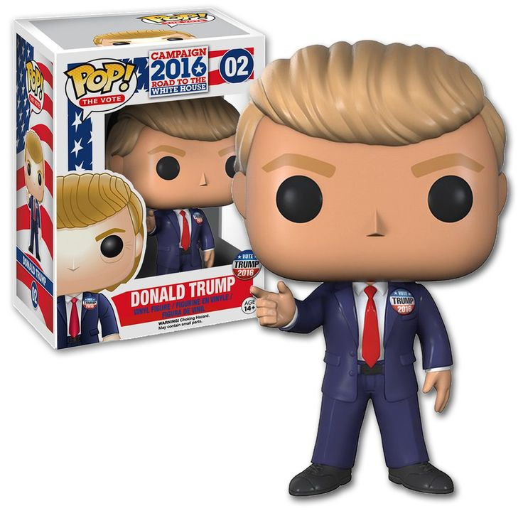 Donald Trump Pop Vinyl Funko Figure Pop the Vote Presidential Campaign 2016
