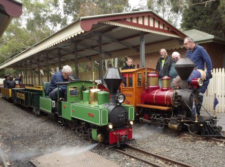 Eltham Miniature Railway - a bushland setting with 2 km of miniature train track to ride ($3 per person), BBQ and picnic facilities with adventure playground.