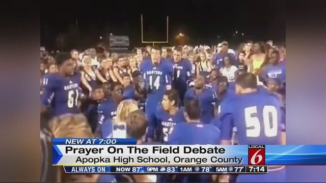 Apopka High School football players to lead prayers at games amid controversy | News  - Home