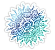 Blue Gradient Mandala  Sticker