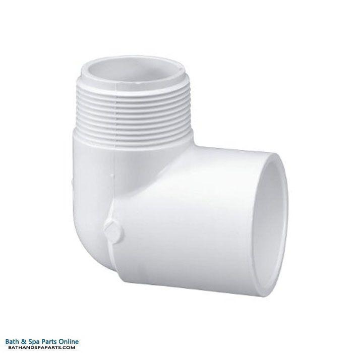 "Lasco SCH40 90 Degree PVC Elbow [1.5"" Slip x 1.5"" MIP] (410-015)"