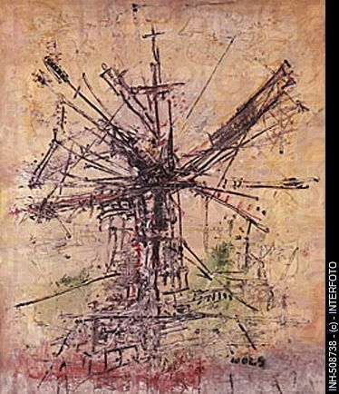 Wols, actually Alfred Otto Wolfgang Schulze, (1913 - 1951), painting, 'Die Windmühle - Le moulin a vent', ('the windmill'), 1951, oil on can...
