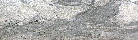 Need to see this granite in person - love the look of foggy ocean..  Piracema White, Ocean Fantasy, White Kinawa - from Brazil: White with swirls of gray and taupe and a few flecks of garnet.