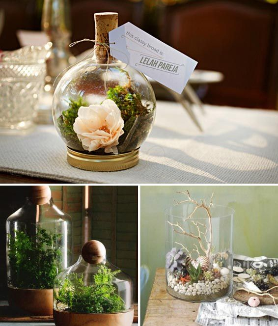 Best 10 terrarium wedding favor ideas on pinterest - Terrarium decoration miniature ...