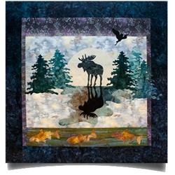 Moose Crossing Applique Quilt Kit $42.95