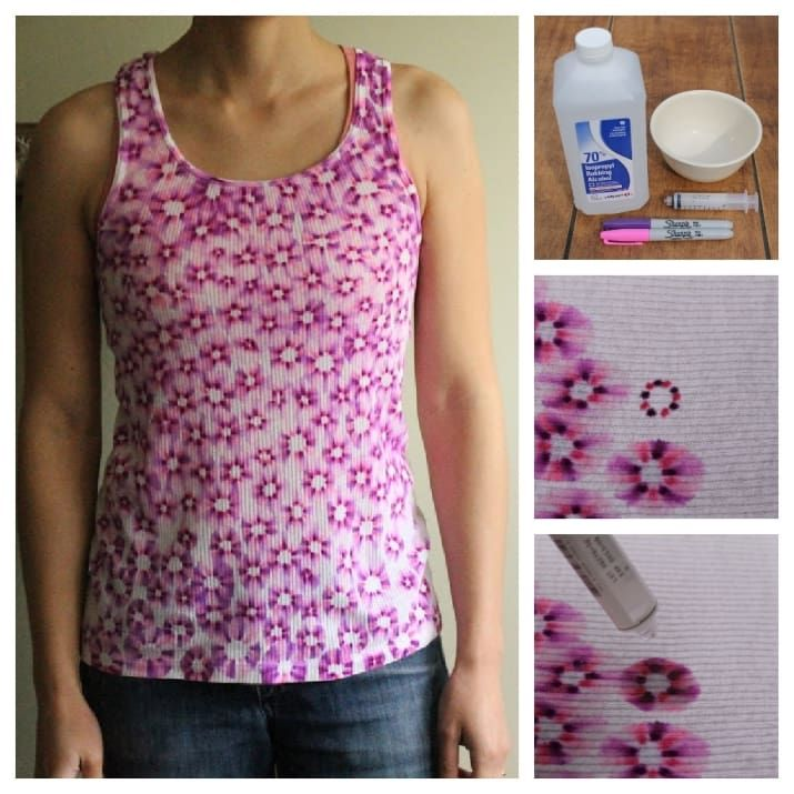 Rubbing alcohol can create a tie-dye effect. Find the how-to here.
