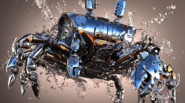 Crab Shiny Metal Wallpaper Hd 3d 4k Wallpapers Images Photos And Background Wallpapers Den Metallic Wallpaper Wallpaper 3d Wallpaper Cool hp machine wallpapers