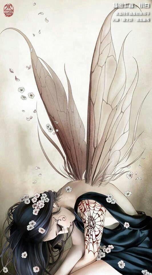 Me inspira que a pesar de que parece abatida sus alas estan preparadas para volver a alzar el vuelo.