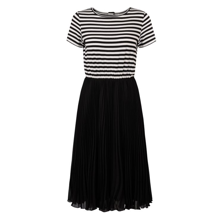 Buy Striped Top Pleated Dress from Oliver Bonas