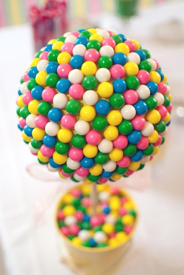 Gumball party topiary tree.