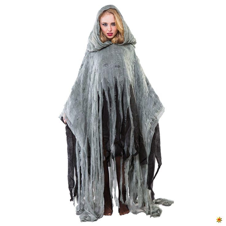 Zombie Kostüm, Umhang Geist für Halloween und Karneval