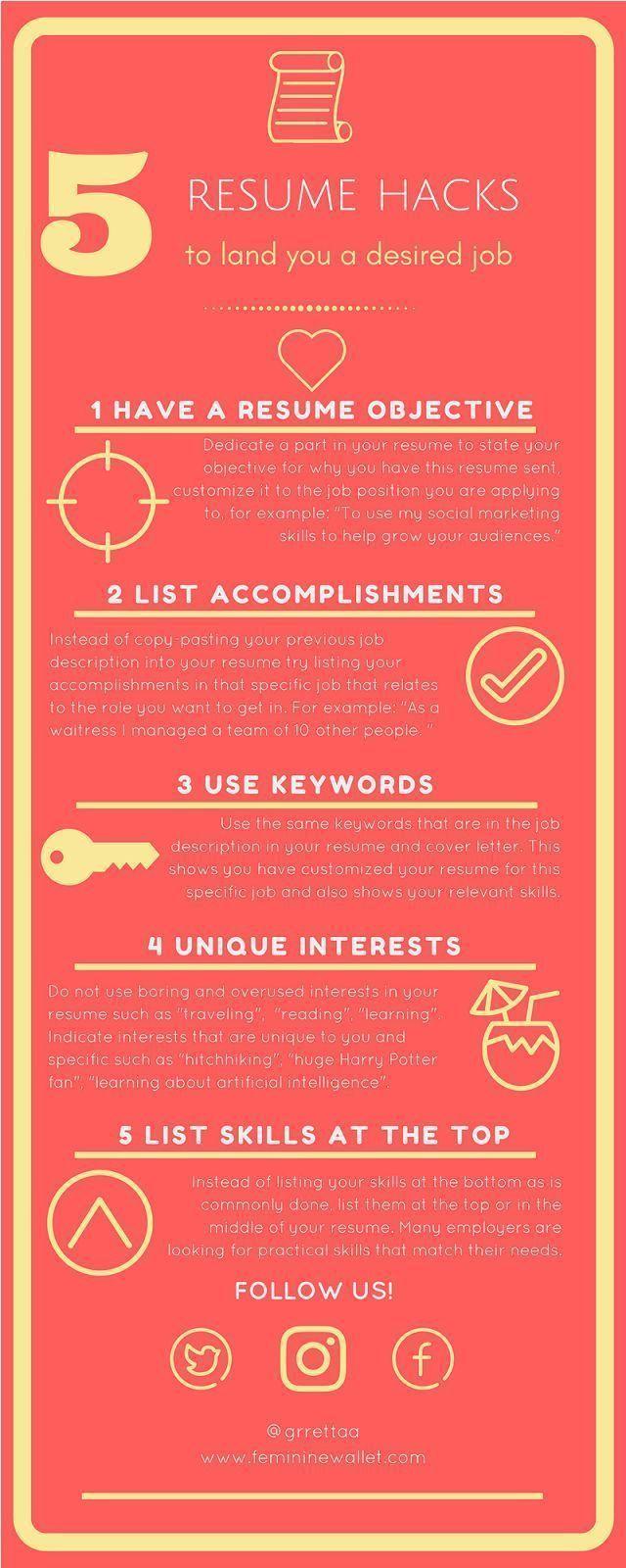 Resume Tips To Nail That Job Interview Cv Tips Resume Skills