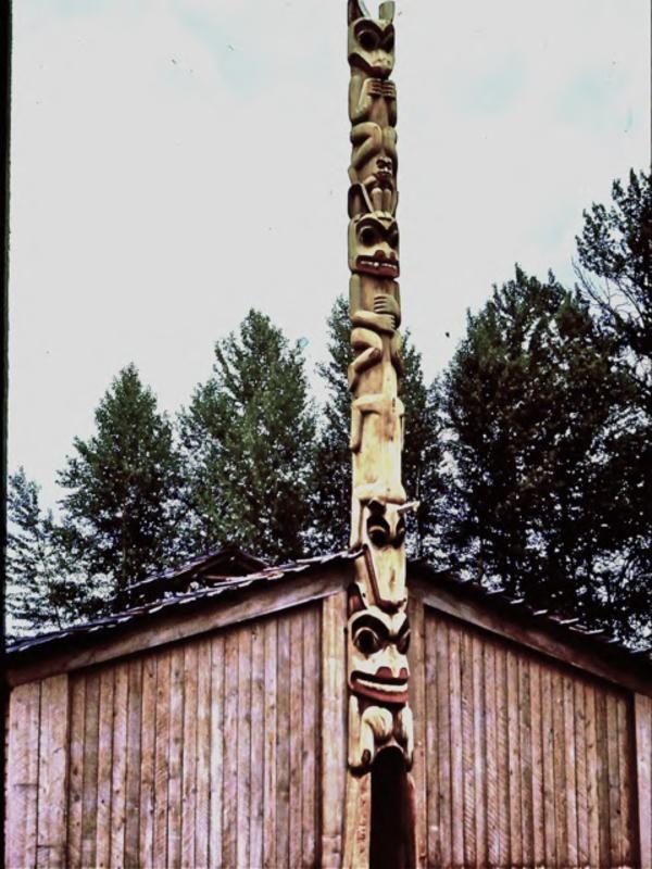 House of the Ancestors at 'Ksan Historical Village, Hazelton, B.C.
