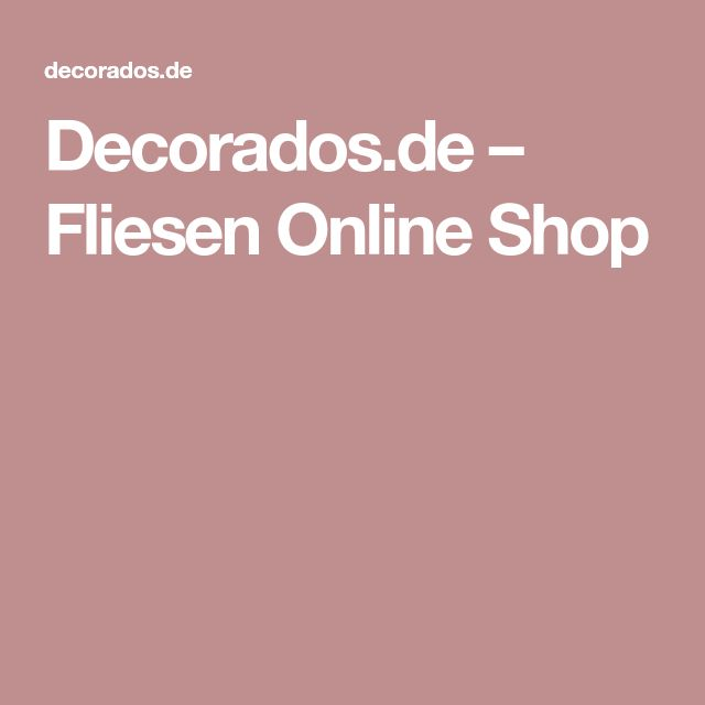 Decorados.de – Fliesen Online Shop