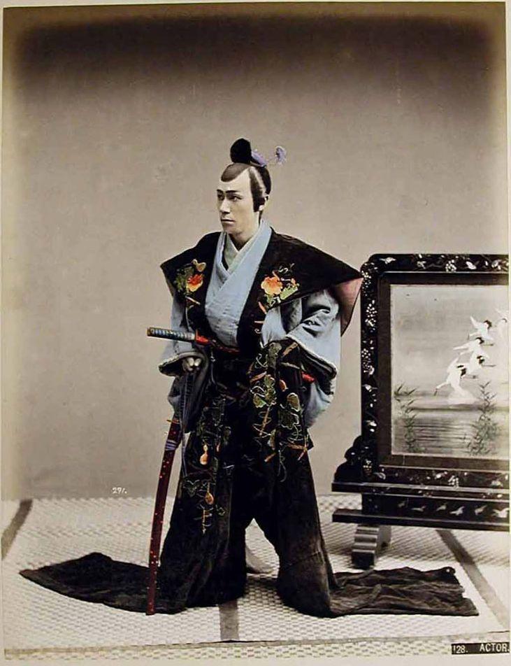 Actor - Japanese 130 Years Ago. Photos By Kusakabe Kimbei