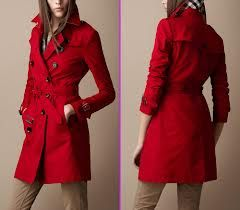 Red trench coats