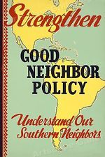 """1940 """"Good Neighbor Policy"""" Vintage Style WPA Poster - 24x36"""