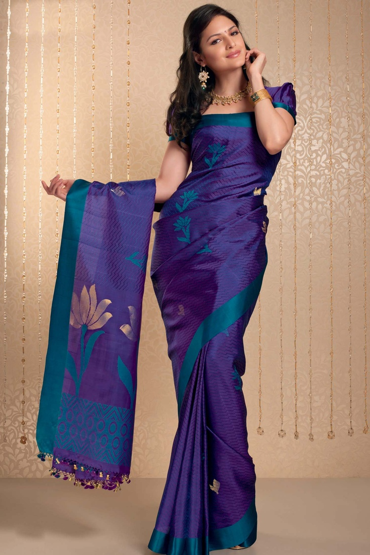 BEAUTIFUL purple and blue saree