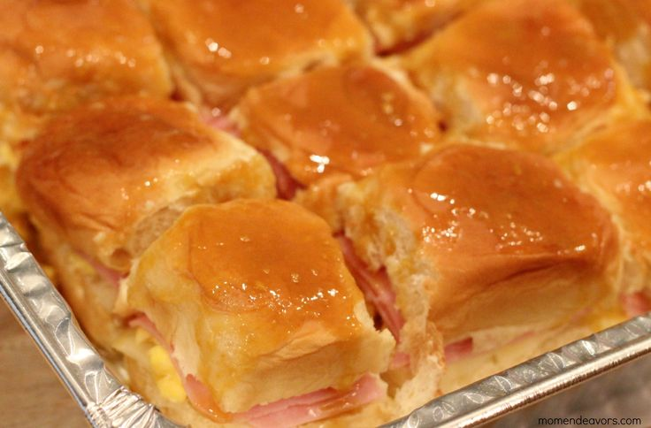 ham and cheese slider recipes for party | Gameday Breakfast Sliders {College Football Saturday Tailgate 2012}