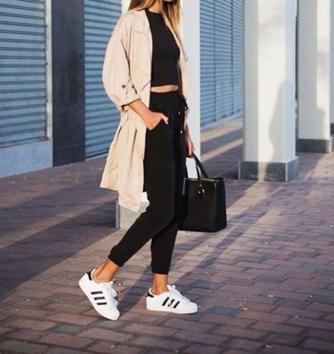 back to school with adidas superstar- Back to school outfit ideas http://www.justtrendygirls.com/back-to-school-outfit-ideas/
