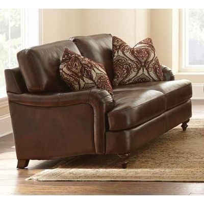 darby home co charles leather loveseat