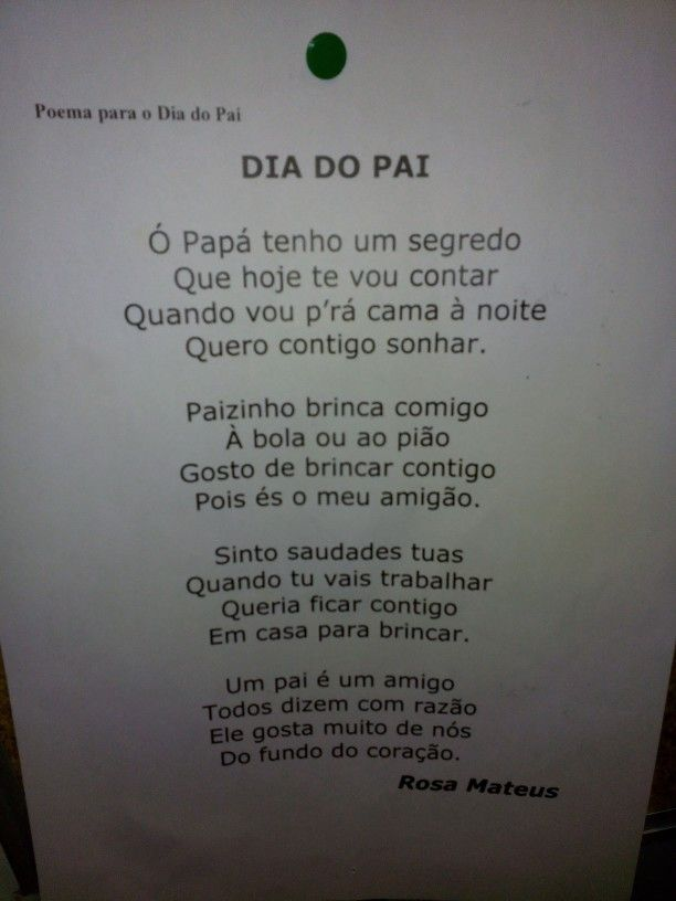 Poema dia do pai