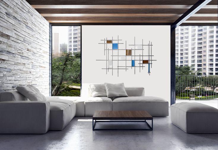 Gridded by Karo Martirosyan (Art Glass Wall Sculpture) | Artful Home
