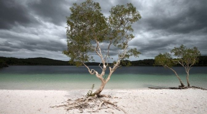 Cam Jung's beautiful image of a storm over Lake McKenzie Fraser Island - Cam can teach you how to take photos like this in this edition.