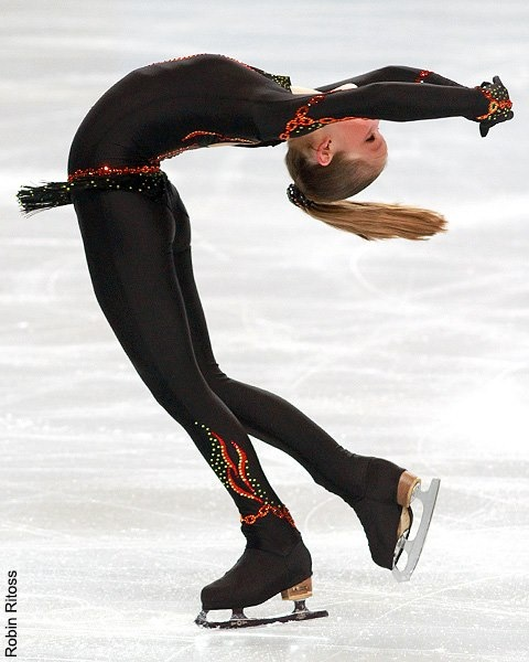 Julia Lipnitskaia< Black Figure Skating / Ice Skating dress inspiration for Sk8 Gr8 Designs.