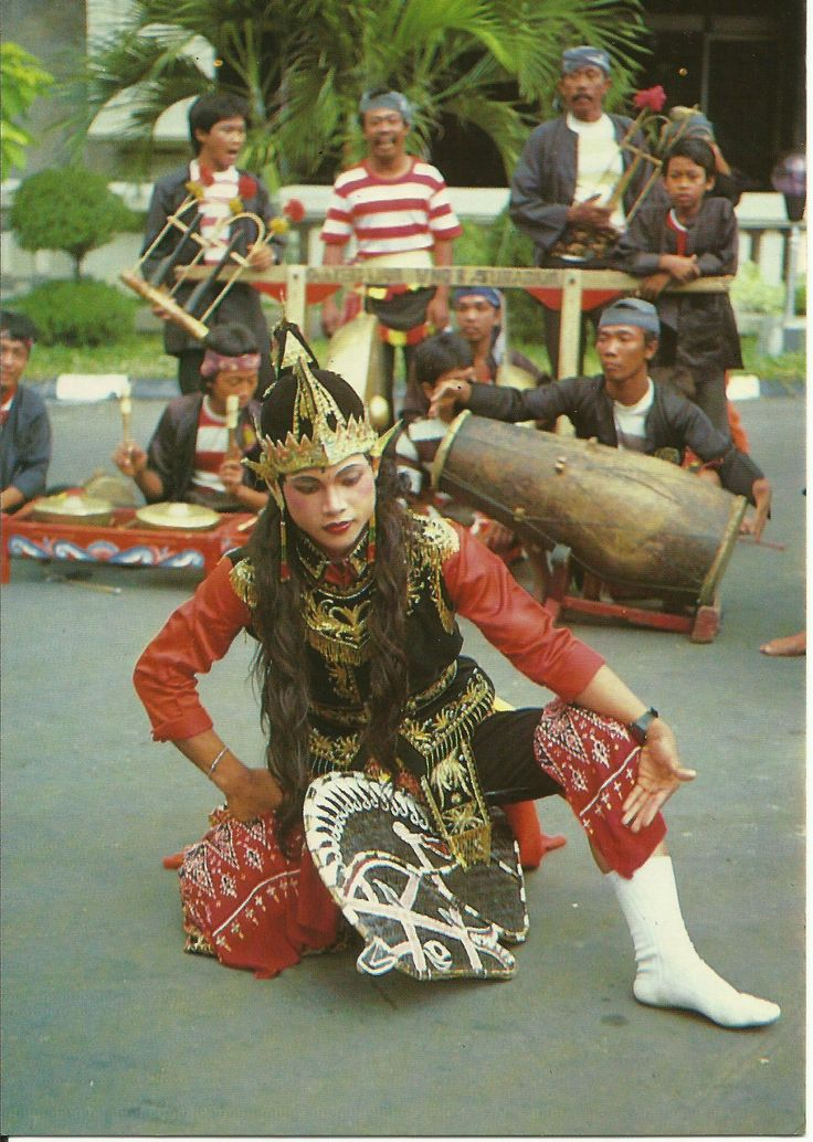 """KUDA KEPANG, INDONESIA The horse dance - in which the main dancer """"rides"""" a two-dimensional horse of plaited bamboo. After falling into a trance, the dancer performs a number of unusual acts."""