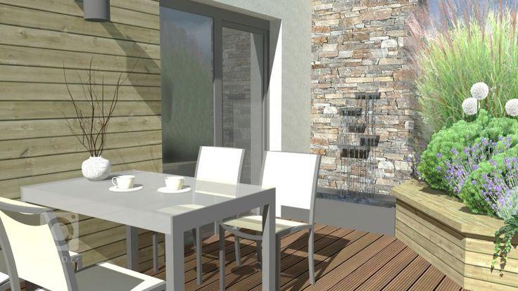 Návrh balkonu pracuje s pohledem z obývacího pokoje bytu tak, aby obyvatelé nebyli nuceni ve výhledu pozorovat pouze nábytek pro venkovní sezení. Zároveň je…