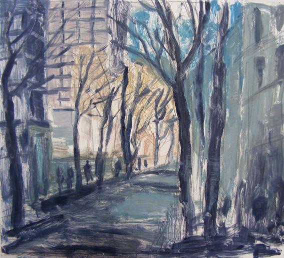 'Paris Sketchbook No.4' monotype by Donald Teskey