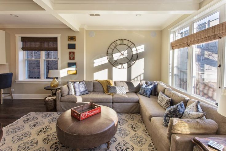 Long Sectional Covers A Large Corner In This Family Room Providing