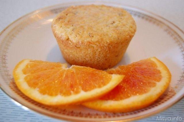 Muffin arancia e mandorle