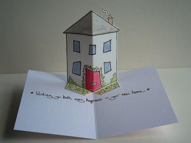 Складной домик открытка