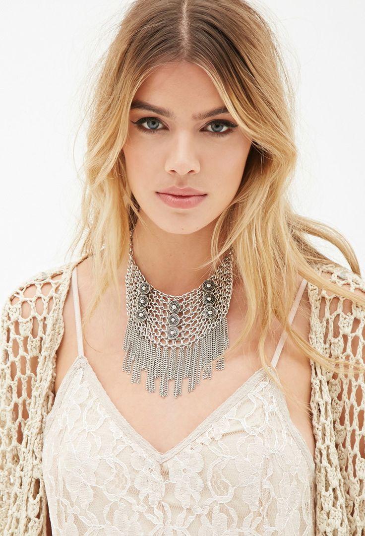 Collier à Frange - accessoires, bijoux et sacs pour Femmes| voir en ligne | Forever 21 - Bijoux - Colliers - 1000054986 - Forever 21 EU