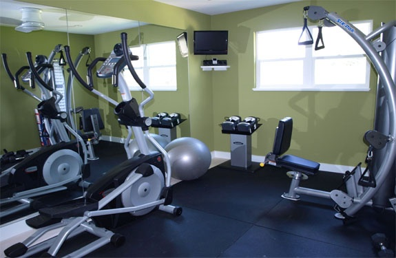 19 best gym colors images on pinterest gym design basement ideas and gym interior - Exercise equipment small spaces decoration ...