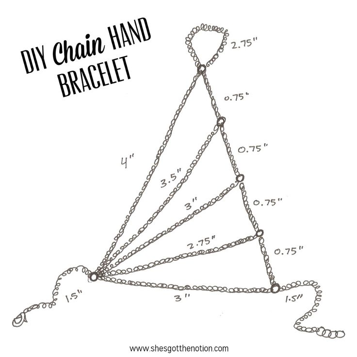Chain Hand Piece: DIY jewelry bracelet tutorial | She's Got the Notion