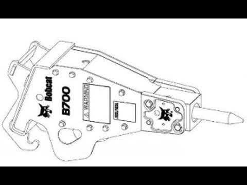 Bobcat B700 B850 B950 B1400 Hydraulic Breaker Workshop