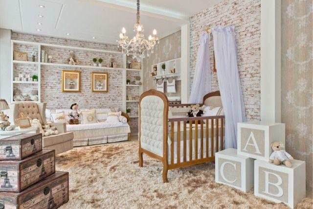Quarto de bebê que mescla o rústico ao luxo | Quarto de bebê - Decoração, bebês, gravidez e festa infantil