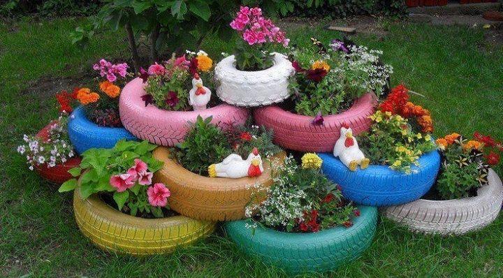 ideas para decorar el jardin con poco dinero - Buscar con Google
