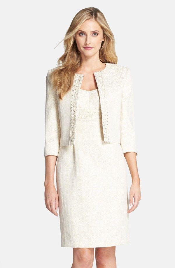 Metallic Jacquard Jacket & Dress