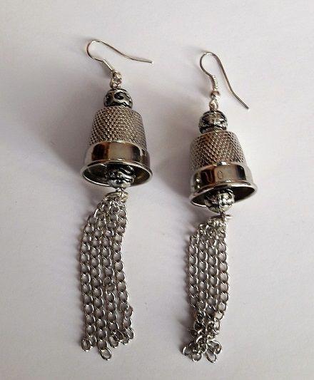 #orecchini #riciclo #gioielli #campane #ditali