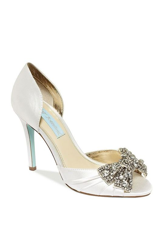 Because what girl doesn't love a sparkly bow?  Betsey Johnson Dancing Gleam Heel in White | ModCloth, $129
