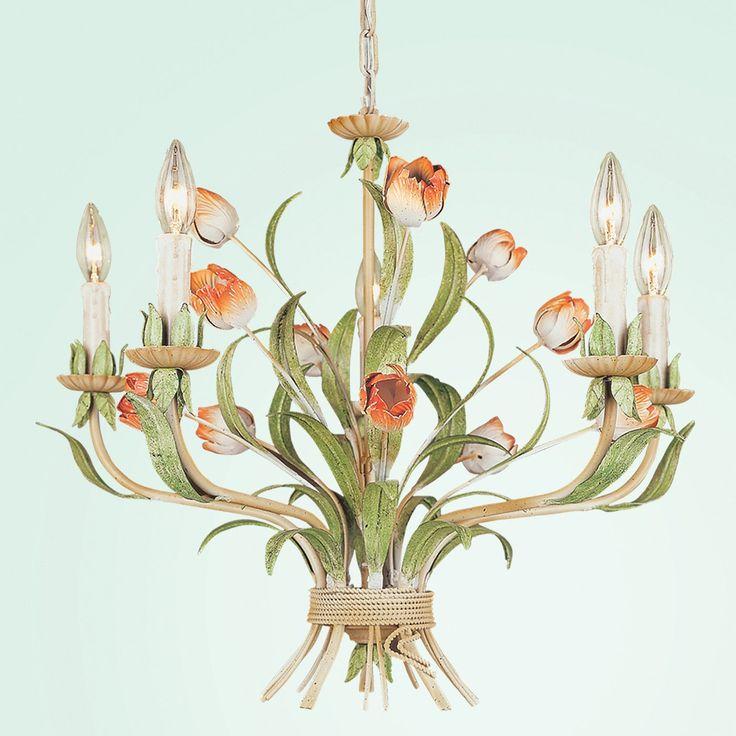 54 best chandeliers images on pinterest chandeliers chandelier bethel international fal96 5 light tulip chandelier kids ceiling light aloadofball Images