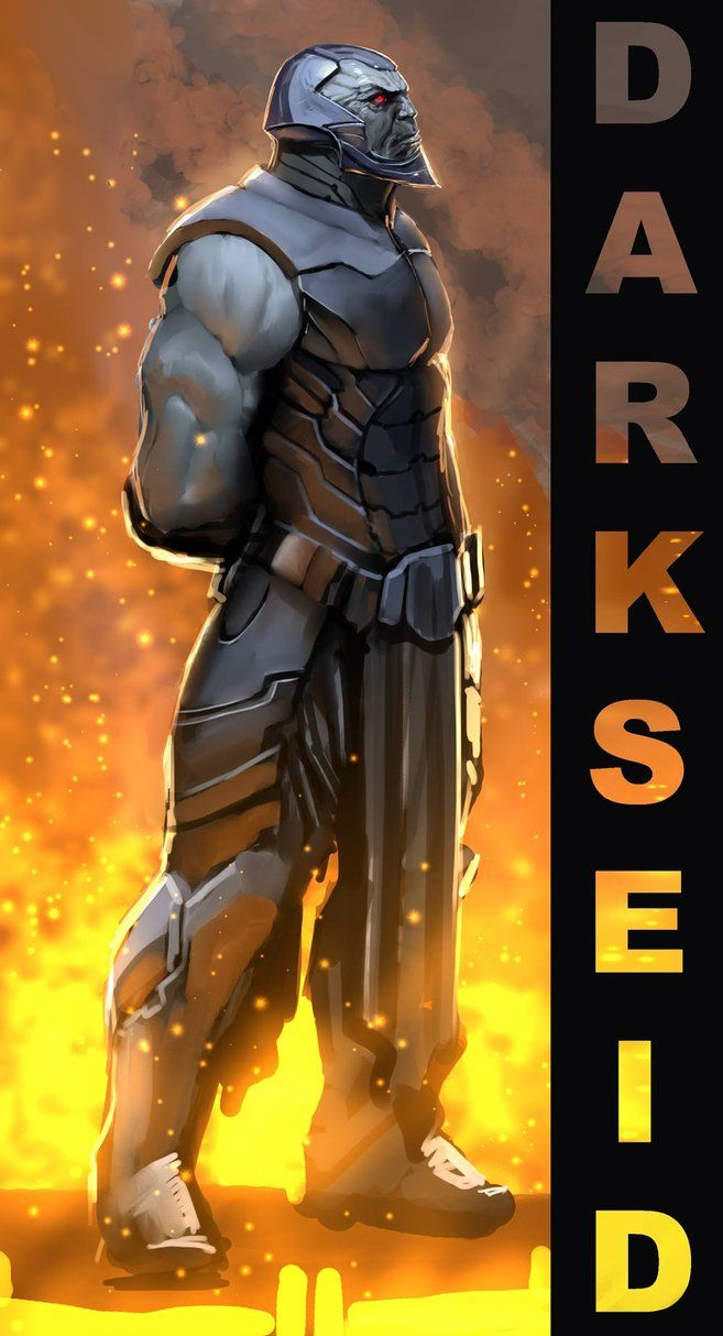darkseid doodle by *nebezial on deviantART  Kind of badass...but also kind of looks like Apocalypse.