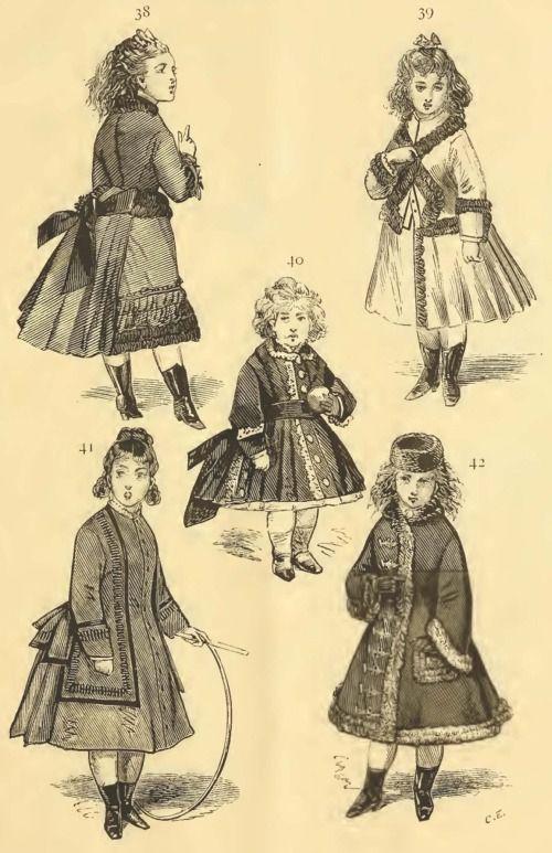 Late Victorian Era Children's Clothing - Autumn 1874 ...