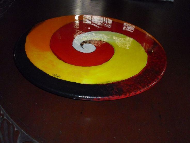 Tabla de queso pintada a Mano y resinada